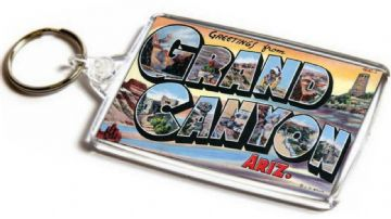 Greetings From Grand Canyon, Arizona Jumbo Keyring